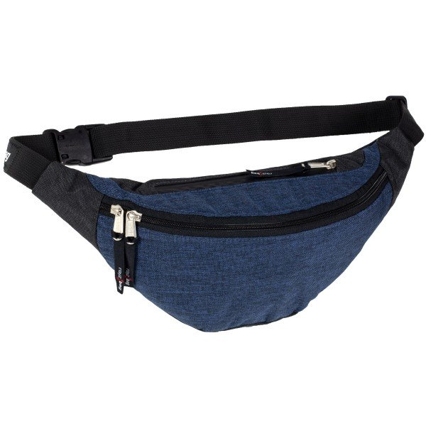 rayzbag-Genius-Hip-Bag-Midnight Blue-Graphite-Front